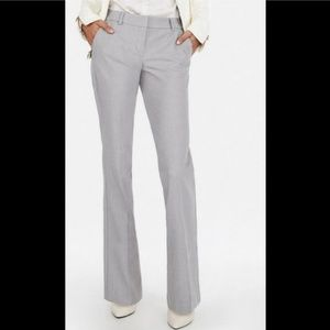 Express Light Heathered Gray Editor Flare Pants
